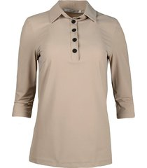 s21m-lux travel polo blouse
