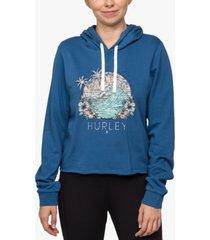 hurley juniors' leonna cropped cutoff hoodie
