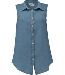 blouse marley jeansblauw