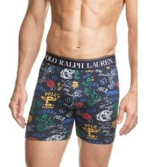polo ralph lauren men's printed stretch jersey boxer briefs