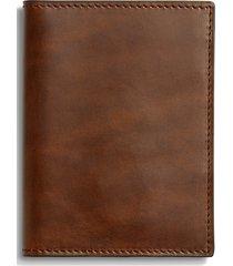 men's shinola navigator passport wallet - brown