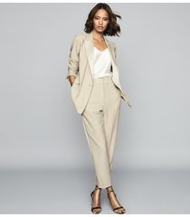 reiss cleo - double breasted blazer in champagne, womens, size 10
