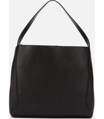 coach women's polished pebble leather hadley hobo bag - black