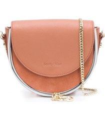 see by chloé charm detail crossbody bag - pink