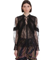 self-portrait blouse in black polyester