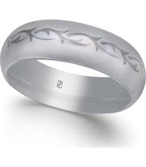men's tribal design cobalt ring