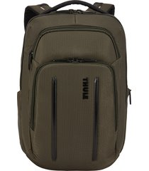men's thule crossover 2 20-liter laptop backpack with rfid pocket - green