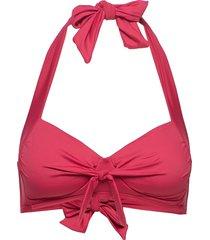 solid halter top bikinitop röd sunseeker