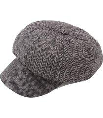 cappellino berretto da baseball con cappuccio in misto cotone a righe vintage da donna. cappellino ottagonale