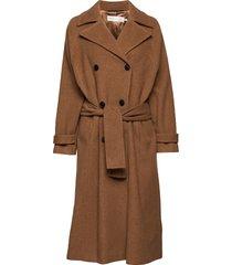 zelieiw raglan coat wollen jas lange jas bruin inwear