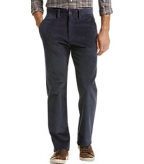 joseph abboud navy corduroy modern fit casual pants