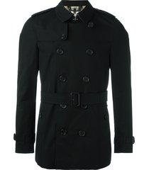 burberry the chelsea - short trench coat - black