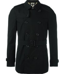 burberry the chelsea - short trench coat - black