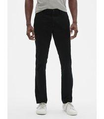 pantalon hombre skinny stretch khaki negro gap gap