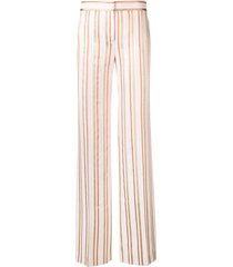 peter pilotto lurex striped trousers - pink