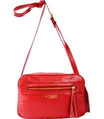 bolsa yasrro de couro bianca vermelho