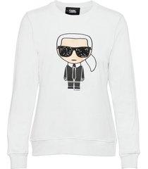 ikonik karl sweatshirt sweat-shirt tröja vit karl lagerfeld