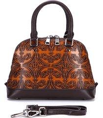 brenice vera pelle vintage pennello borsa a tracolla goffrata borsa donne in rilievo di colore