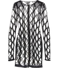 rick owens net ls round neck dress