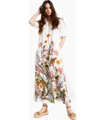 inc cotton printed puff-sleeve maxi dress, created for macy's