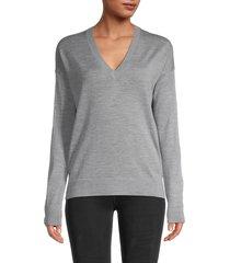 zadig & voltaire women's v-neck merino wool sweater - black - size xs
