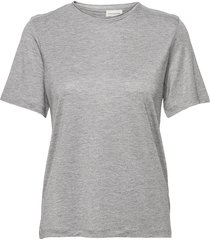 amatta t-shirts & tops short-sleeved grå by malene birger
