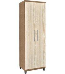 armário multiuso 02 portas sabrina castanho/avelã - ajl móveis