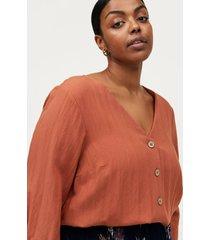 blus vmacy 3/4 v-neck shirt