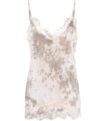 gold hawk abstract print vest - pink