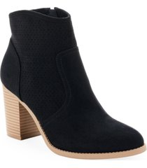 sun + stone adrien perfed booties, created for macy's women's shoes
