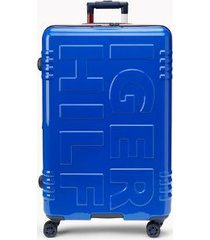 "tommy hilfiger women's 28"" signature spinner suitcase royal blue -"