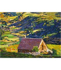 """david lloyd glover village in the valley provence canvas art - 15"""" x 20"""""""