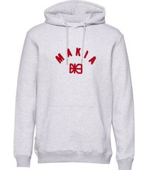 brand hooded sweatshirt hoodie trui grijs makia
