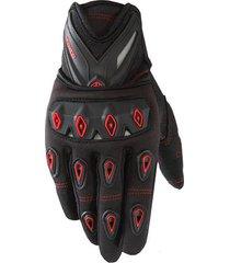 guantes moto scoyco con protección nudillos anti deslizantes color rojo talla l