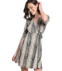 vestido fiveblu print multicolor - calce holgado