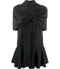 atu body couture tie front party dress - black