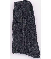 charcoal aran socks medium / large