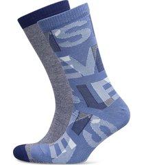 levis regular cut letter overlap 2p underwear socks regular socks blå levi´s