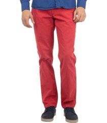 pantalón 5 bolsillos teñido rojo 36