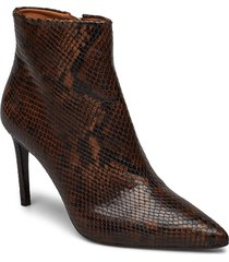 booties 3360 shoes boots ankle boots ankle boot - heel brun billi bi