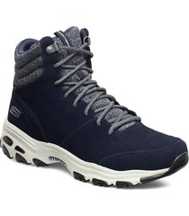 womens d'lites - chill flurry shoes boots ankle boots ankle boot - flat blå skechers
