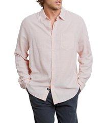 men's rails wyatt regular fit button-up shirt, size large - red