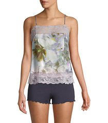 pia floral silk camisole