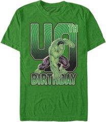 fifth sun men's marvel hulk smash 40th birthday short sleeve t-shirt
