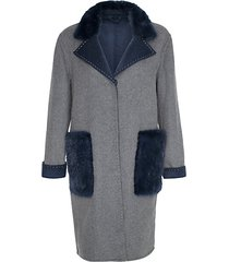 cashmere-blend & mink fur-trim coat