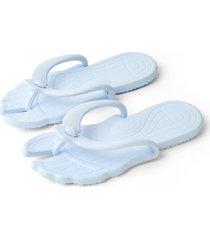 moda azul claro casual tanga plana zapatillas