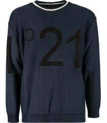 n.21 huge logo embroidered sweatshirt