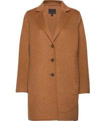 unlined double-faced top coat wollen jas lange jas bruin banana republic