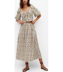 mango printed cotton skirt
