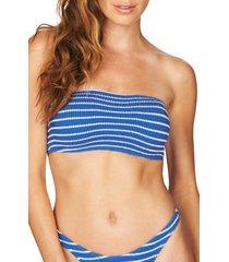 women's bound by bond-eye the seeker ribbed bandeau bikini top